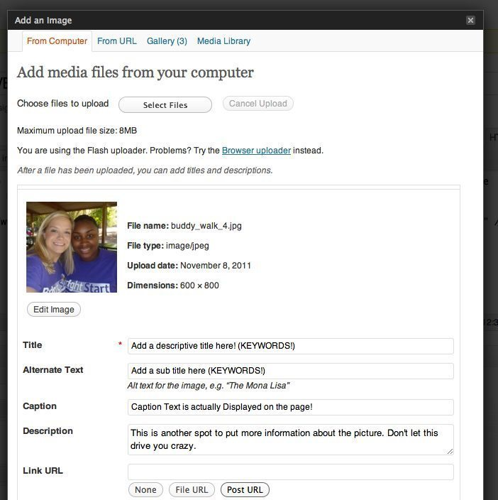 WordPress Tutorials for Bright Start